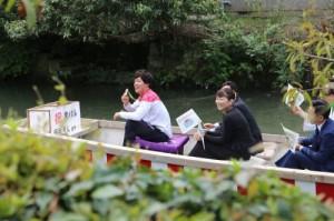 坂井聖人選手の川上りパレード